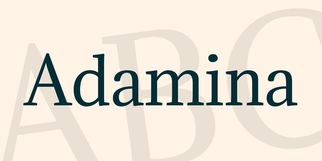 adamina-font