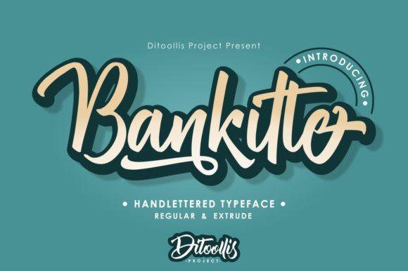 Bankitte Handlettered Font