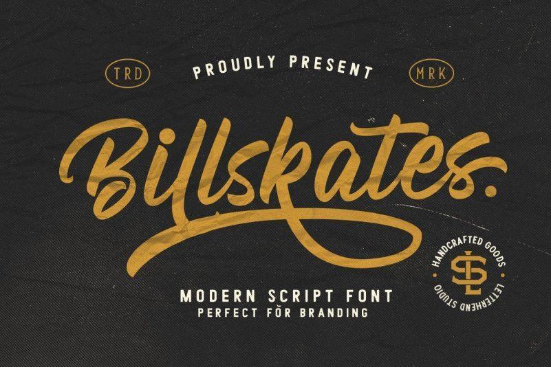 billskates-script-font