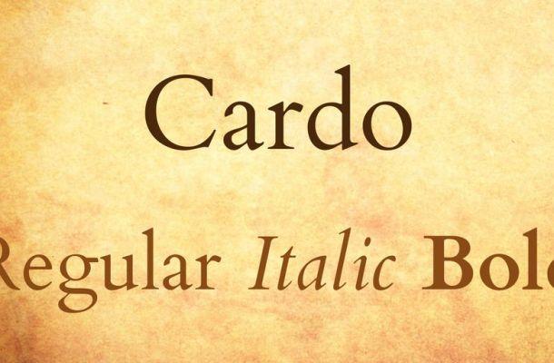 Cardo Font Family