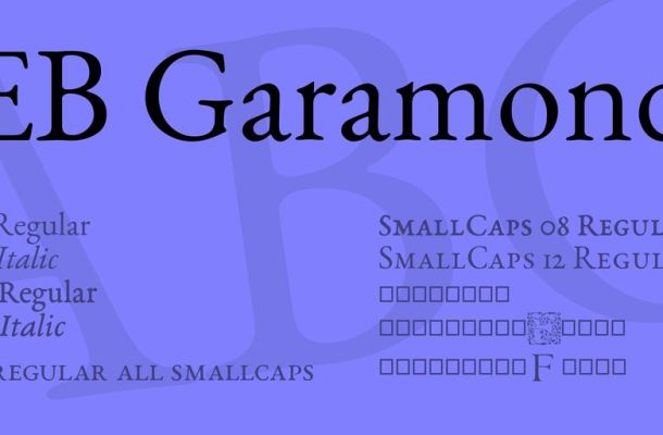 EB Garamond Font Family