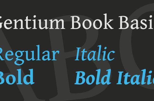 Gentium Book Basic Font Family