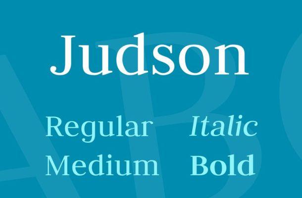 Judson Font Family