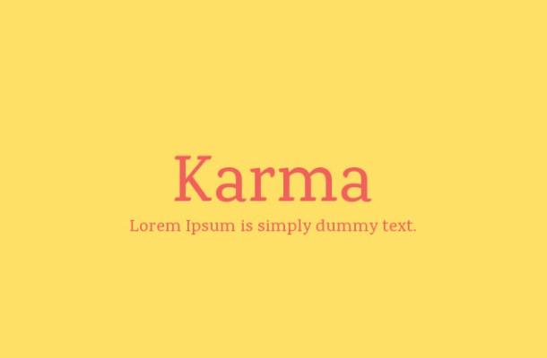 Karma Font Family
