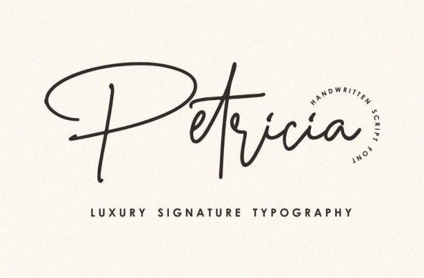 Petricia Signature Font