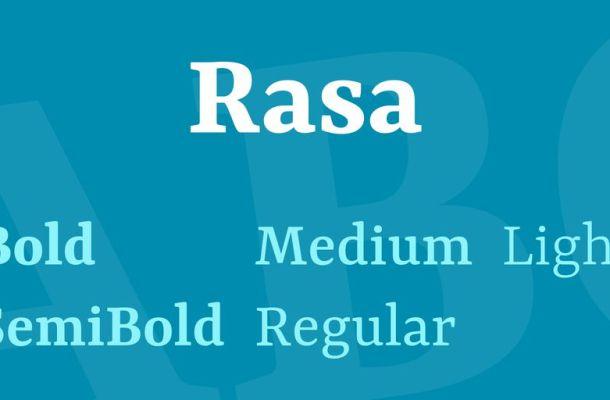 Rasa Font Family