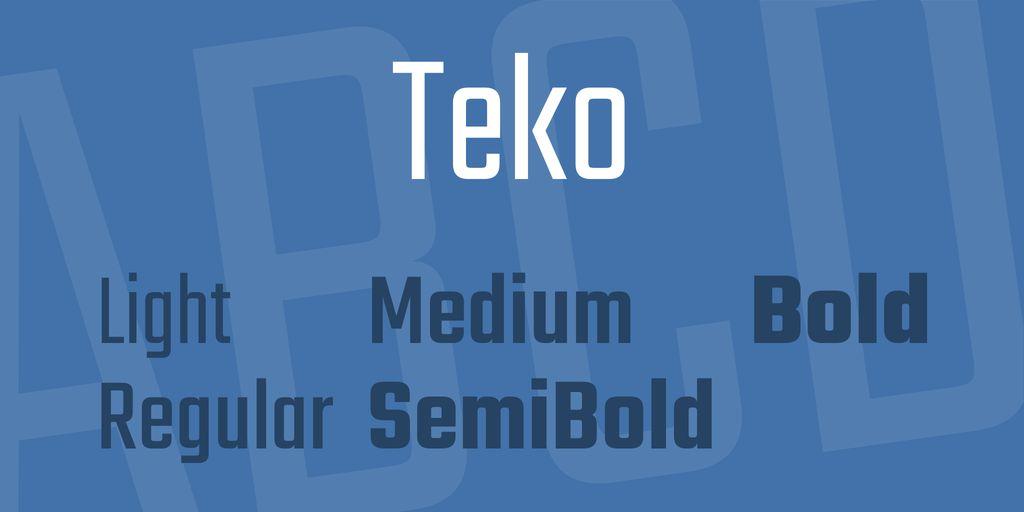teko-font