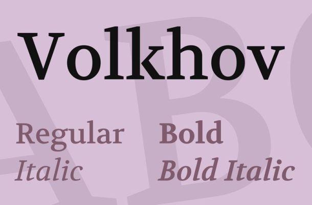 Volkhov Font Family