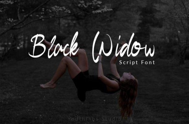 Black Widow Script Font
