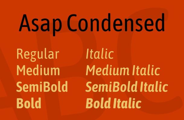 Asap Condensed Font Family