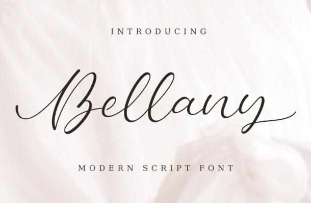 Bellany Modern Script Font