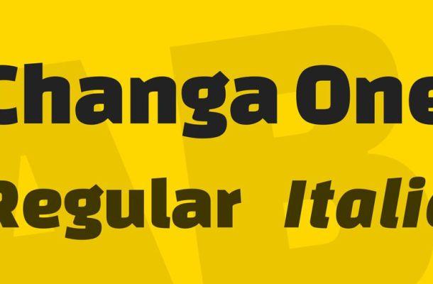 Changa One Font Family