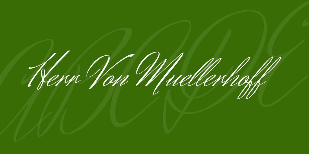 herr-von-muellerhoff-font