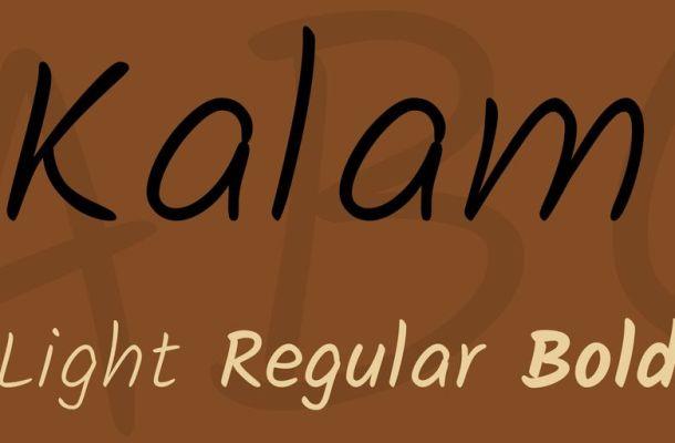 Kalam Font Family