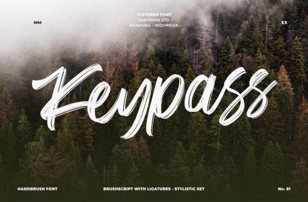 Keypass Brush Font