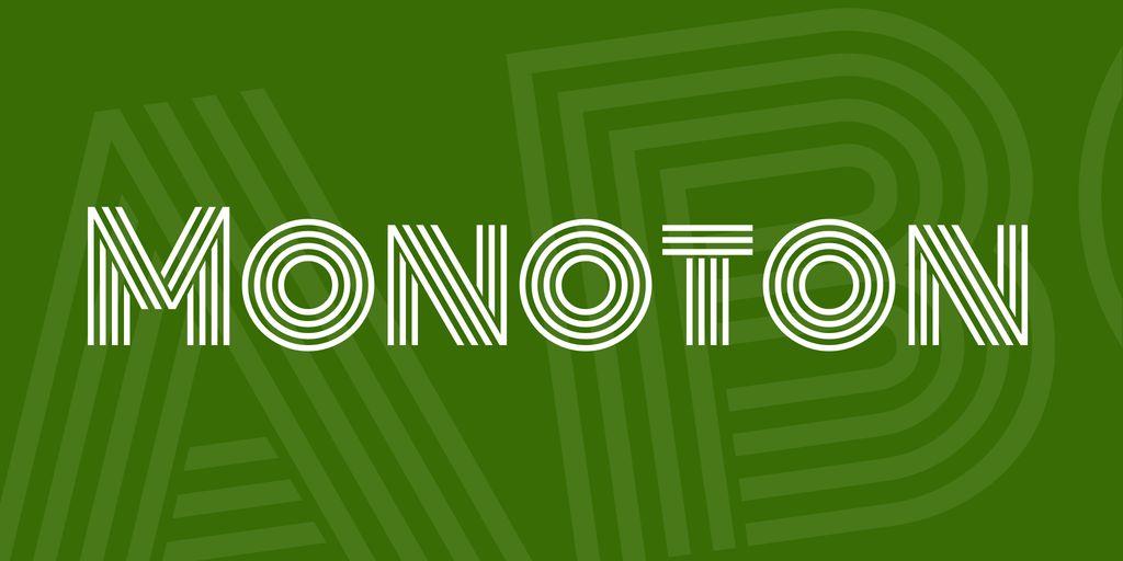monoton-font
