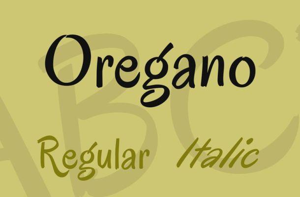 Oregano Font Family