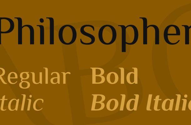 Philosopher Font Family