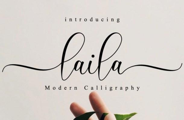 Laila Modern Calligraphy Font