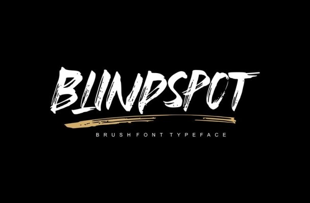 Blindspot Brush Font