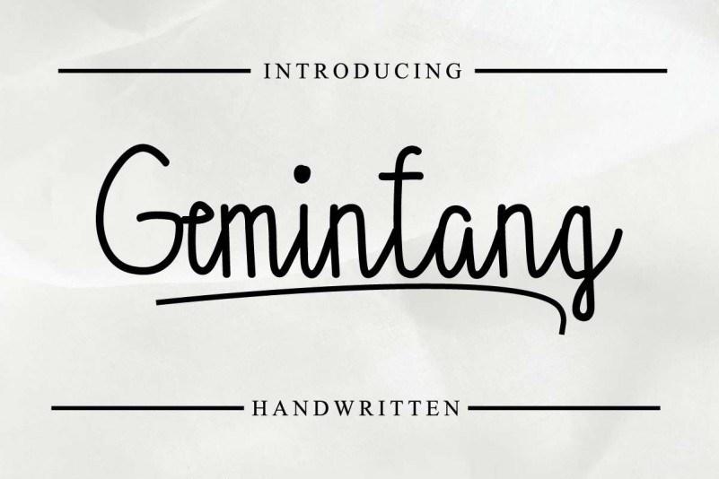 gemintang-font