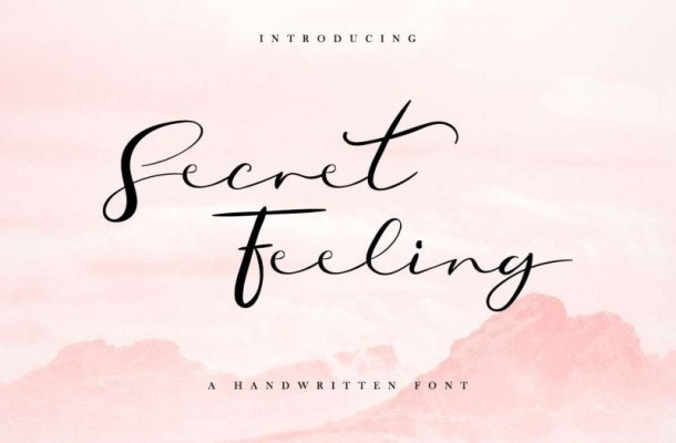 Secret Feeling Calligraphy Font