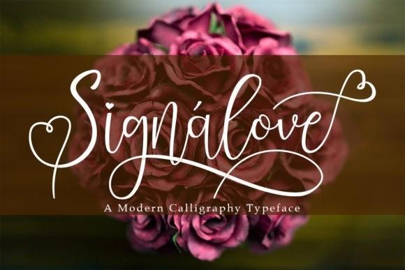 Signalove Calligraphy Font