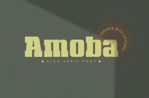 Amoba Slab Serif Font