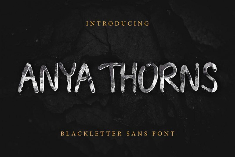 Anya-Thorns-Grunge-Font
