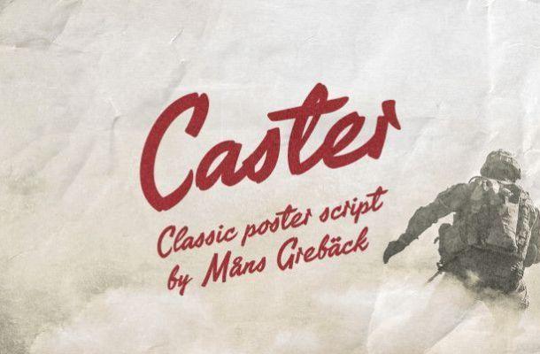 Caster Brush Font