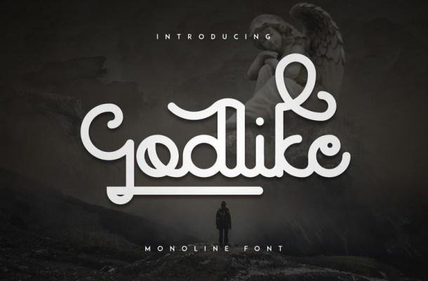 Godlike Monoline Font