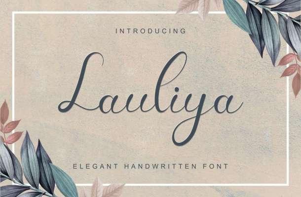 Lauliya Calligraphy Font