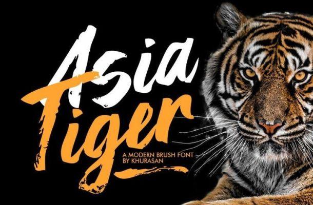 Asia Tiger Brush Font