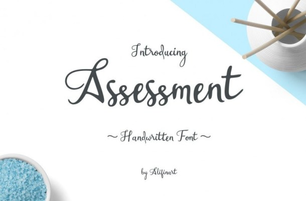 Assessment Calligraphy Font