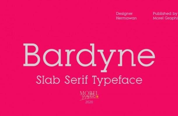 Bardyne Slab Serif Typeface