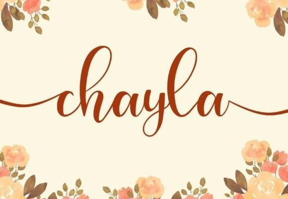 Chayla Calligraphy Font