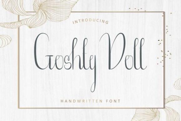 Goshty Doll Calligraphy Font