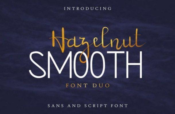 Hazelnut Smooth Handwritten Font