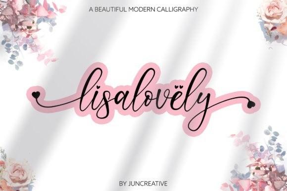Lisalovely Calligraphy Font