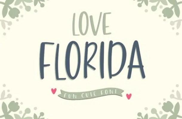 Love Florida Script Font