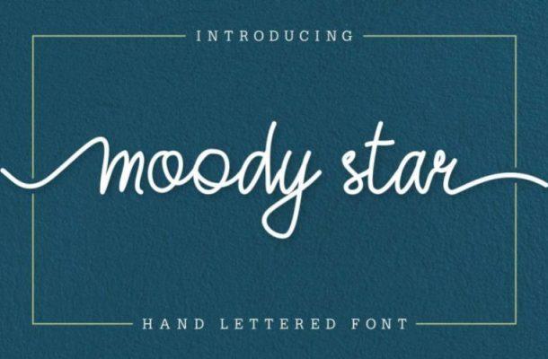 Moody Star Handwritten Font