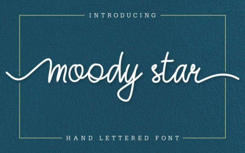 moody-star-font