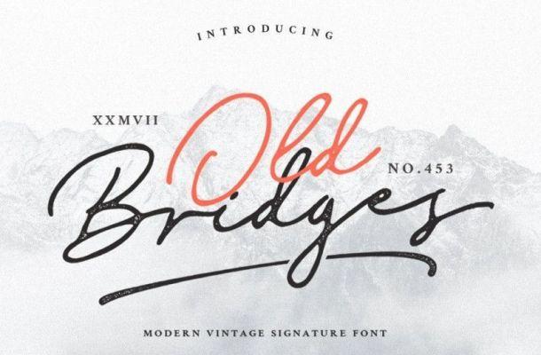 Old Bridges Vintage Signature Font