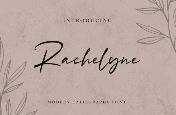 Rachelyne Modern Calligraphy Font