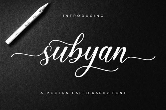 Subyan Modern Calligraphy Font