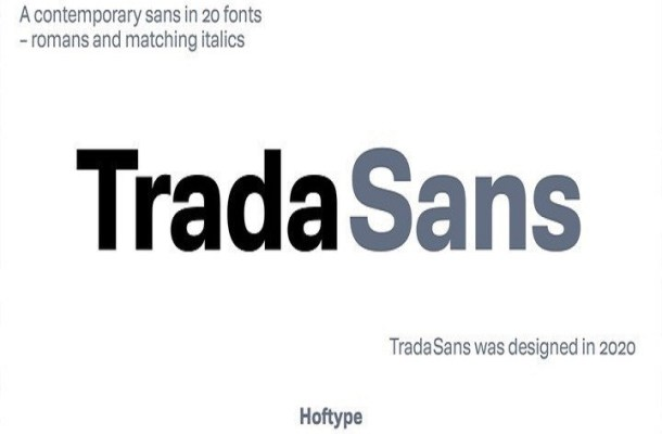 TradaSans Font Family