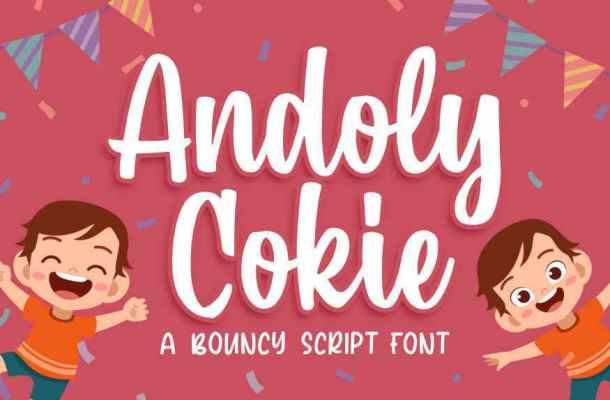 Andoly Cokie Script Font