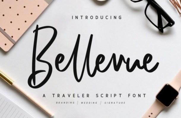 Bellevue Traveler Script Font