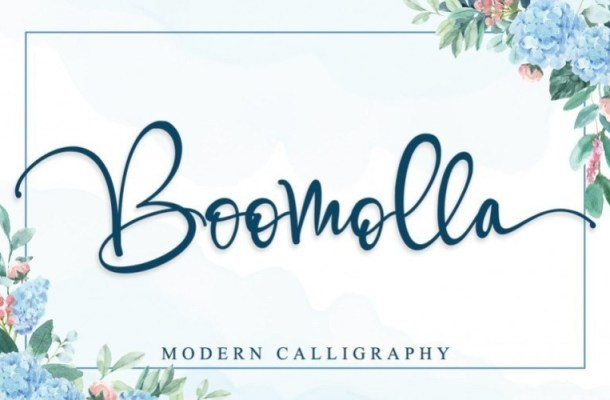 Boomolla Calligraphy Font
