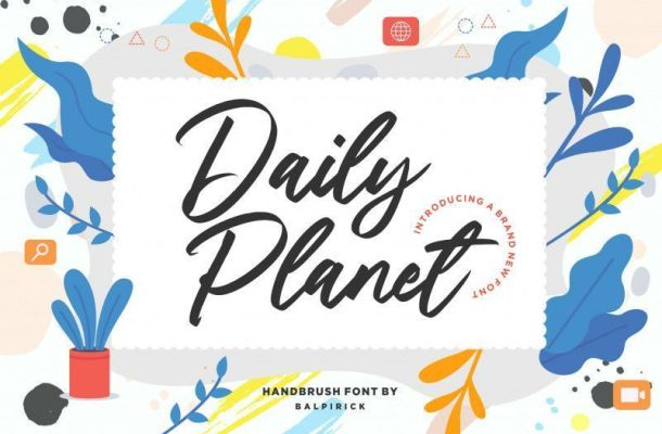 Daily Planet Handbrush Font